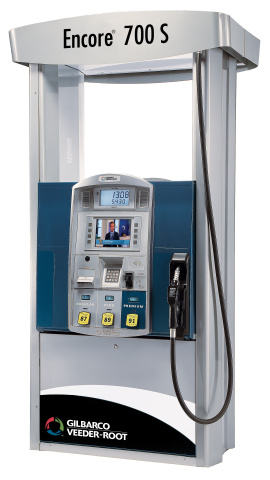 Gilbarco Veeder-Root and VeriFone are collaborating on fuel dispenser payment platforms and creating the largest at-pump interactive digital media network. The VeriFone Digital Network (VNET) will reach over 115 million consumers monthly through advanced pump dispensers like this. (Photo: Business Wire)