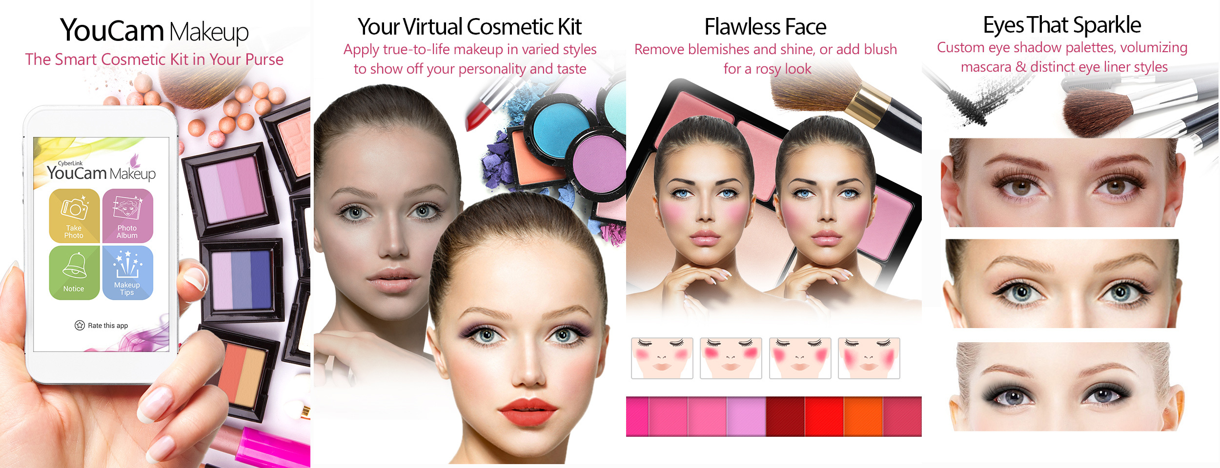 CyberLink Announces New YouCam Makeup App – the Smart Cosmetic Kit