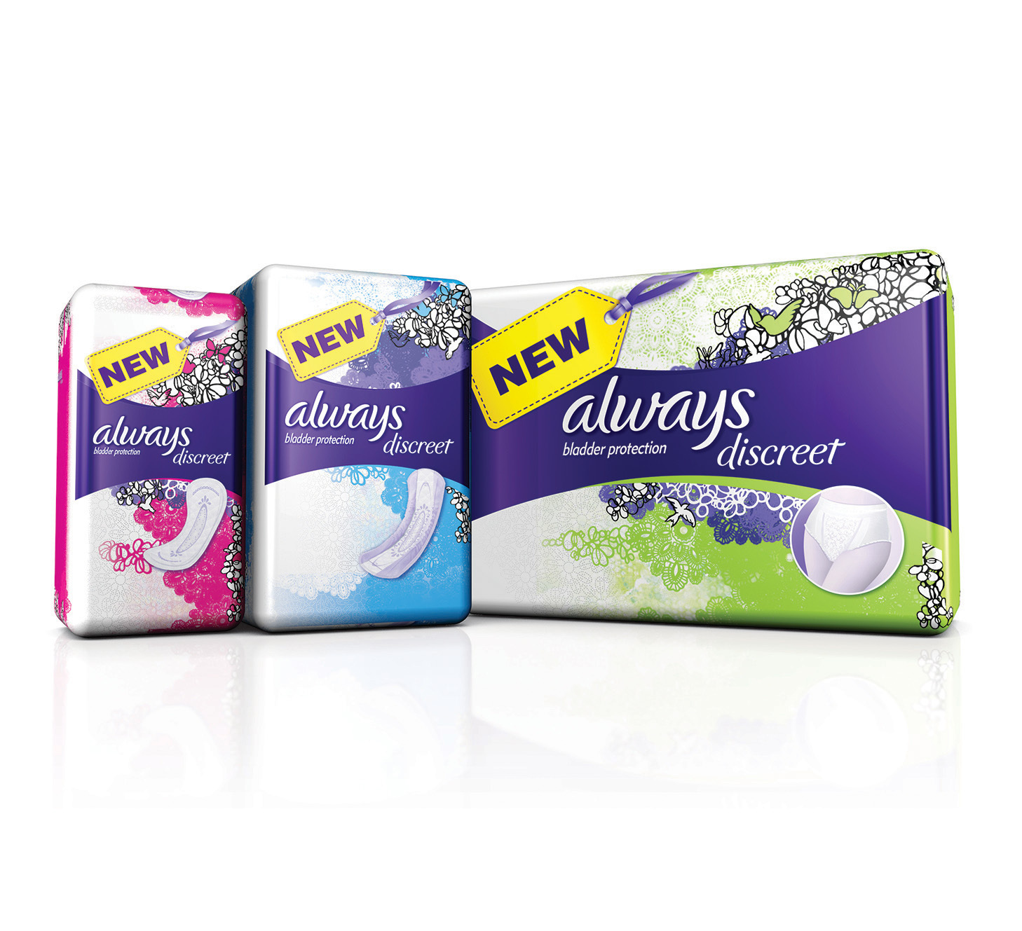 Procter & Gamble's Always brand, the global leader in feminine care that's protected women for over 30 years, has launched new Always Discreet, specifically designed to revolutionize the way women manage their sensitive bladders. (Photo: Business Wire)
