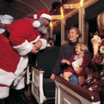 Upon arrival at the North Pole, passengers are welcomed by Santa Claus, who then boards the Polar Express for the return trip to Williams, making his way through the passenger cars, greeting every child and presenting each one with a special gift. (Photo: Business Wire)