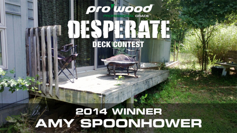 2014 ProWood Desperate Deck Contest winning entry from Amy Spoonhower (Graphic: Business Wire)