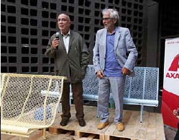 "Architects Lluis Clotet and Oscar Tusquets introduce the ""Catalano 4.0"" at the BD Barcelona Design showroom. (Photo: Business Wire)"