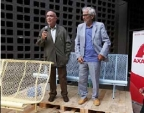 """Architects Lluis Clotet and Oscar Tusquets introduce the """"Catalano 4.0"""" at the BD Barcelona Design showroom. (Photo: Business Wire)"""