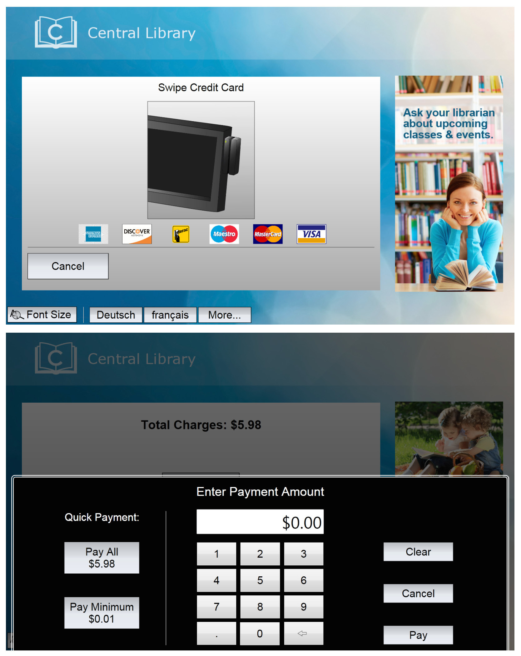 3M Library Systems has become Payment Application Data Security Standard (PA-DSS) validated for fines and fees collection, providing libraries and patrons added security at 3M SelfCheck kiosk. (Photo: Business Wire)