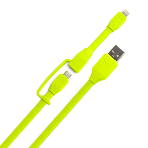 The Syncable-Duo is a =2-in-1 cable that features both Apple Lightning and microUSB connectors in one tangle-free cord. (Photo: Business Wire)