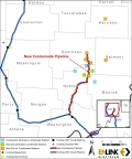 EnLink Midstream Condensate Pipeline, Stabilization and Compression Project Map (Graphic: Business Wire)