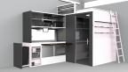 Jolee Nebert was one of the five winners selected for the FirstBuild Micro-Kitchen Challenge; each design will contribute to the final design that will be manufactured at FirstBuild's microfactory in Louisville, Ky. (Graphic: GE)