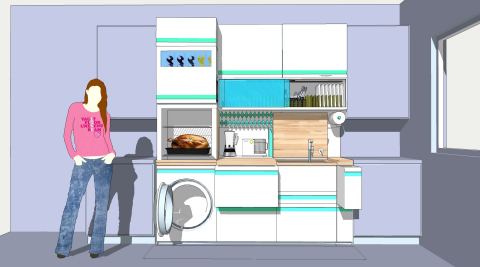 Tim Boyle was one of the five winners selected for the FirstBuild Micro-Kitchen Challenge; each design will contribute to the final design that will be manufactured at FirstBuild's microfactory in Louisville, Ky. (Graphic: GE)