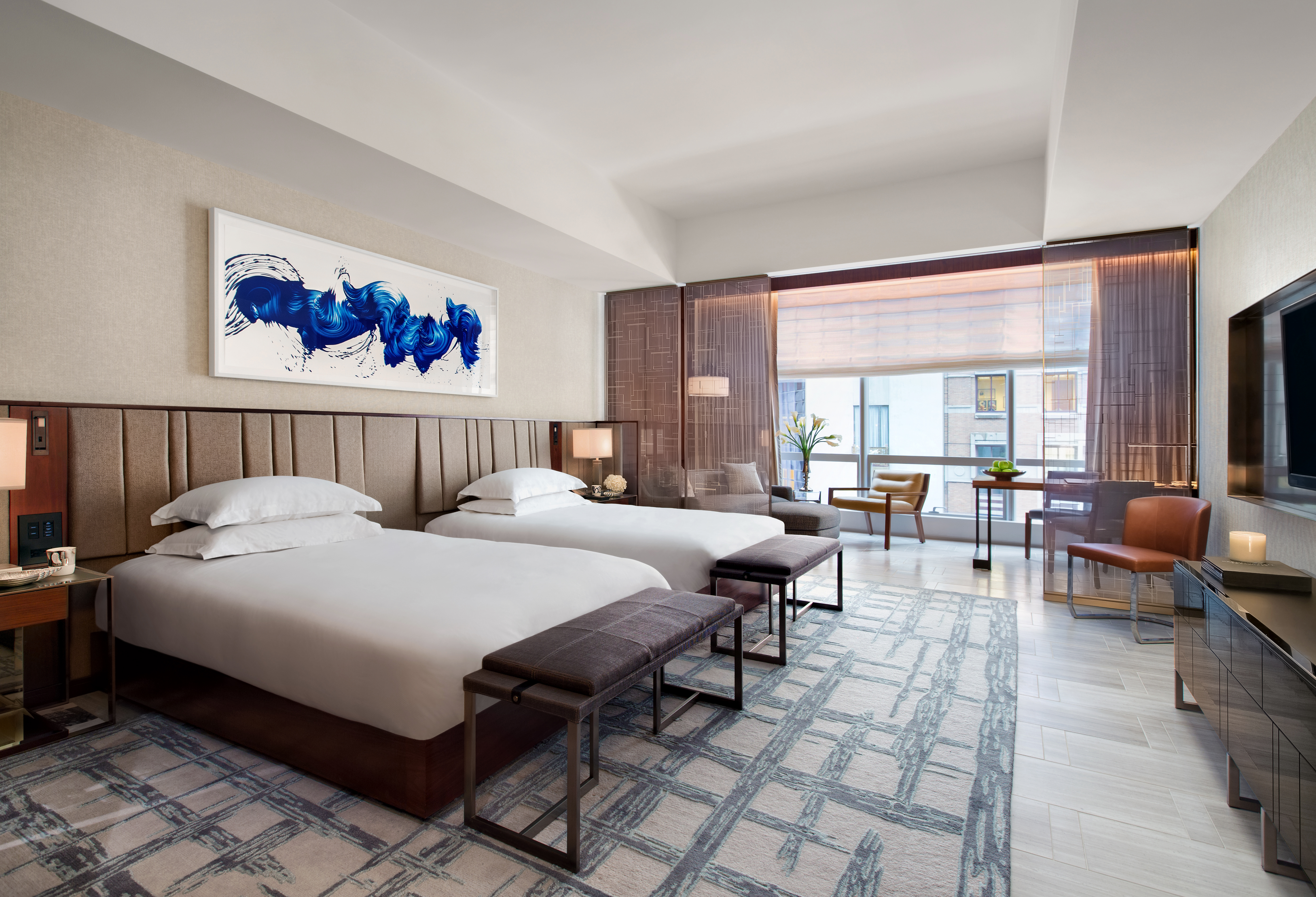Park Hyatt New York features 210 luxurious guestrooms, including 92 premier suites, all with floor-to-ceiling windows. (Photo: Business Wire)