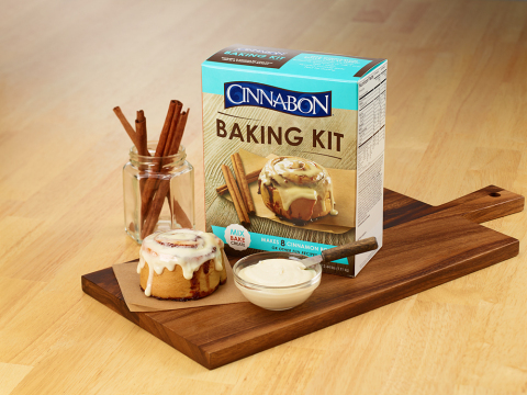 The Cinnabon Baking Kit is available exclusively at 2,500 Walmart stores (Photo: Business Wire)