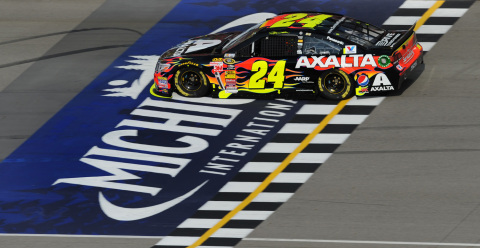 Jeff Gordon and Brilliant Flames Win in Michigan (Photo: Business Wire)