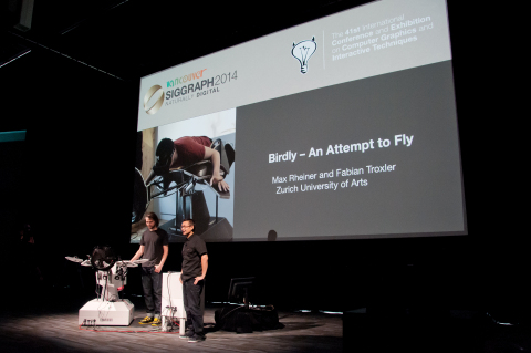 SIGGRAPH 2014 Real-Time Live! AR/VR Contest Winner: Birdly (C) 2014 ACM SIGGRAPH (Photo: Business Wi ...