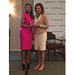 WWE Chief Brand Officer Stephanie McMahon today presented Nancy G. Brinker, Founder and Chair of Global Strategy for Susan G. Komen, with the Cynopsis Sports Impact Award (Photo: Business Wire)
