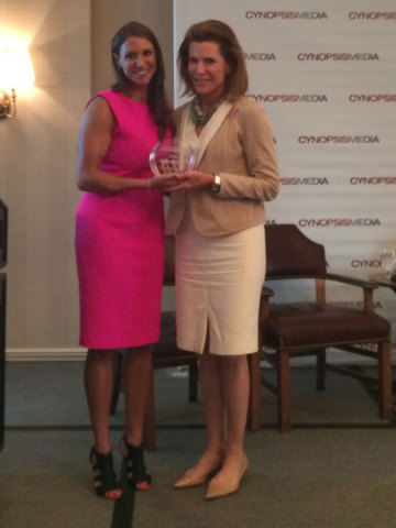 WWE Chief Brand Officer Stephanie McMahon today presented Nancy G. Brinker, Founder and Chair of Glo ...