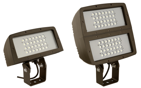 Hubbell Outdoor Lighting's new FLL and FXL LED floodlights offer a versatile and energy efficient lighting solution for a variety of floodlighting applications. (Photo: Business Wire)