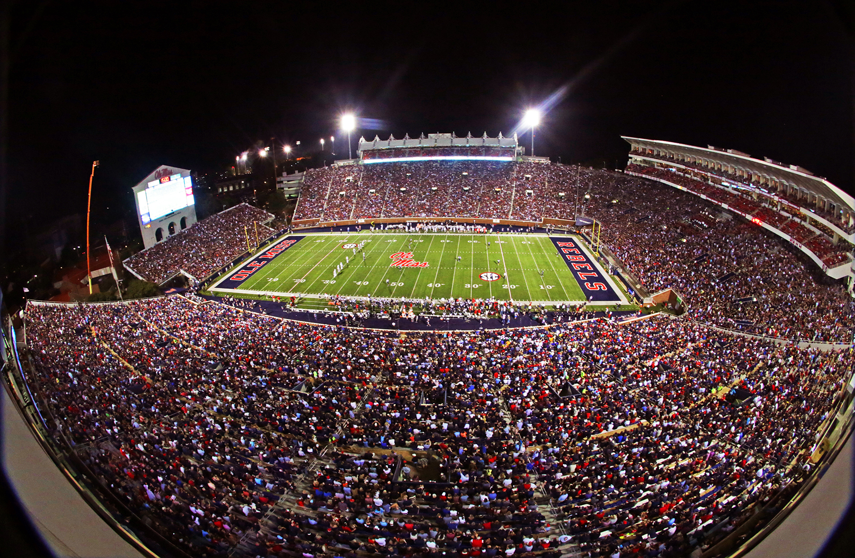 C Spire and the Ole Miss Athletic Department have installed a new state-of-the-art Wi-Fi network in the 60,580 seat-capacity Vaught Hemingway stadium for the 2014 college football season. (Photo: Business Wire)