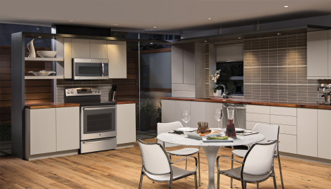 The free-standing Profile™ Series gas and electric ranges are GE's second cooking appliances, following the wall oven, to allow consumers to preheat, set the time, and check cooking status using an app on their smartphone (Photo: General Electric)