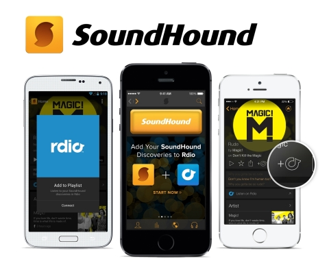 SoundHound Introduces Auto Playlist Creation Inside Rdio (Graphic: Business Wire)