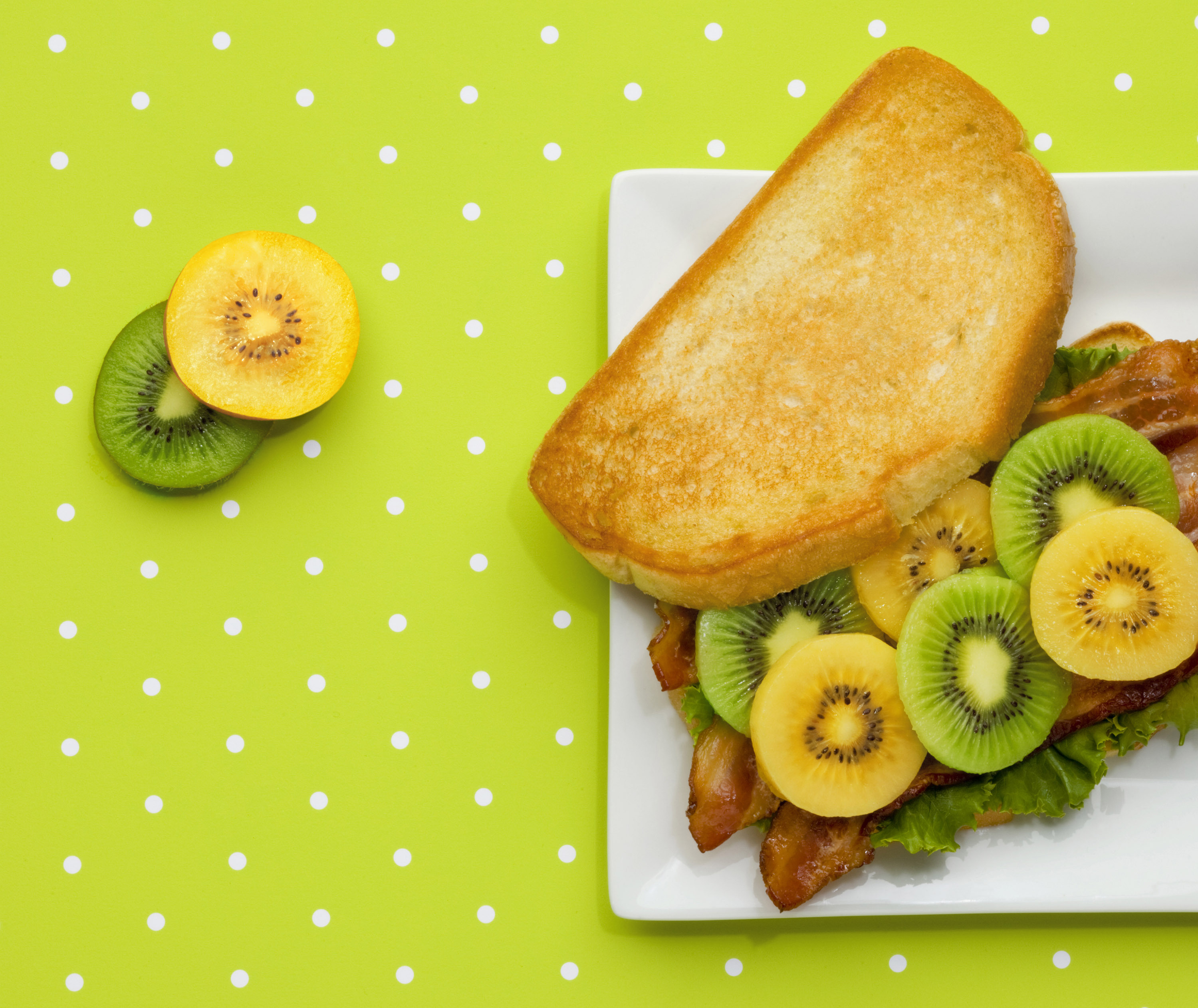 Bacon Lettuce and Kiwifruit Sandwich (BLK). (Photo: Business Wire)