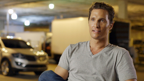 Matthew McConaughey and the all-new 2015 Lincoln MKC (Photo: Business Wire)