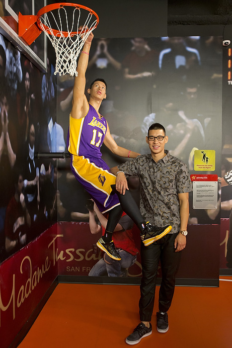 Jeremy lin pro basketball player and bay area native unveils his jeremy lin pro basketball player and bay area native unveils his wax figure at madame tussauds san francisco business wire m4hsunfo