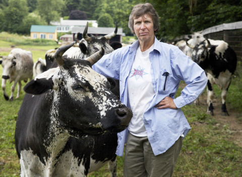 Cynthia Creech, proprietor of Artemis Farm in upstate New York, and rescuer of the rare Randall catt ...
