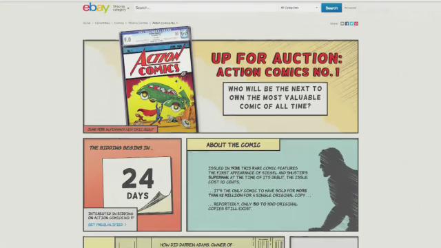 eBay Sells Original Superman Comic, Action Comics #1