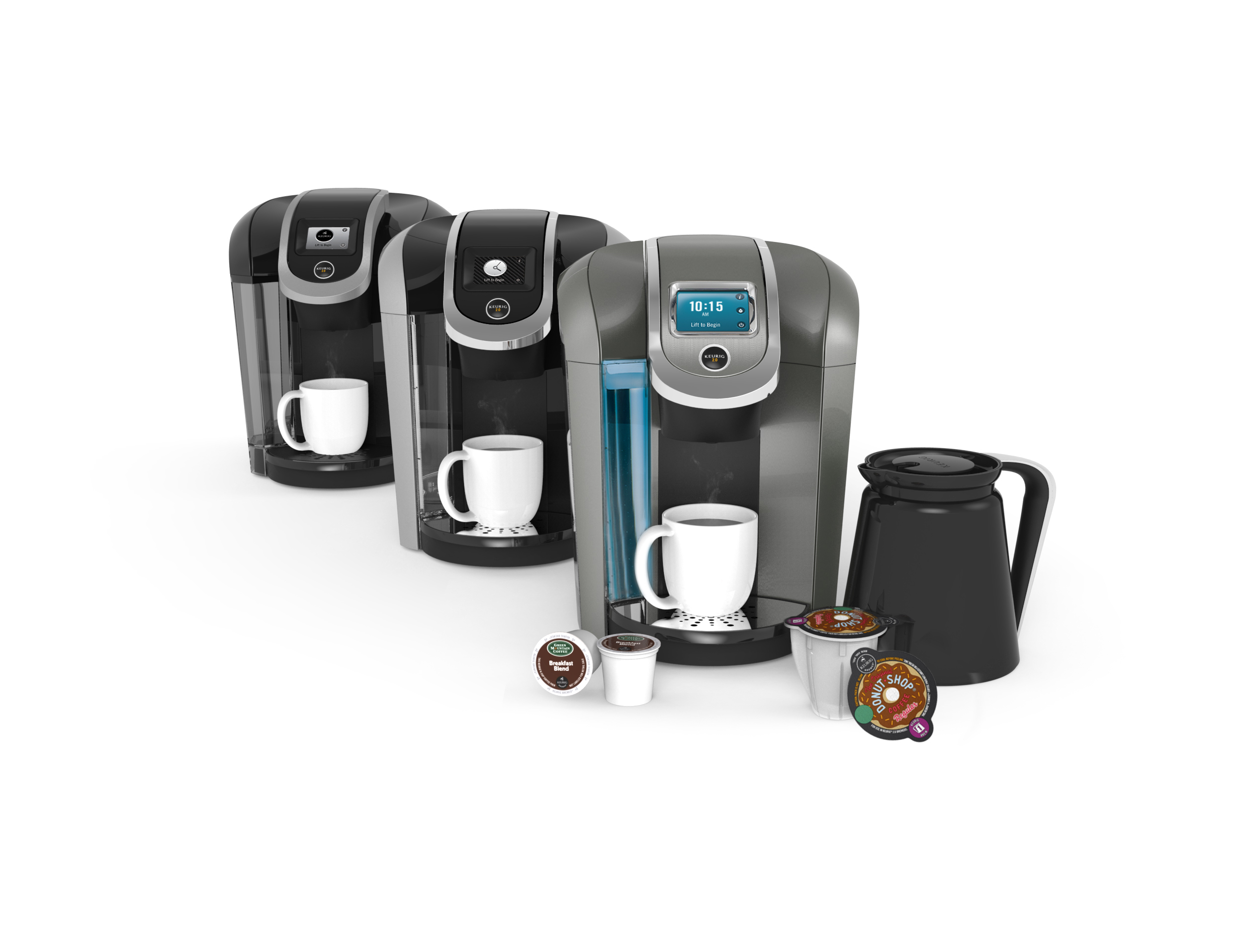 The Keurig® 2.0 system is available in the K500, K400 and K300 series. (Photo: Business Wire)