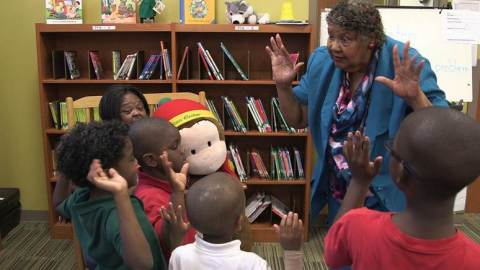 2013-14 National LifeChanger of the Year, Betty Chandler, with students at Eccleston Elementary School in Orlando, FL (Photo: Business Wire)