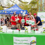 Contest finalists and judges gave the quicker picker upper 10s across the board at the Bounty #RedsFoodPromo Recipe Contest prior to the Cincinnati Reds vs. Atlanta Braves game on Saturday, August 23, in Cincinnati, Ohio. (Photo: Matthew Allen/AP)