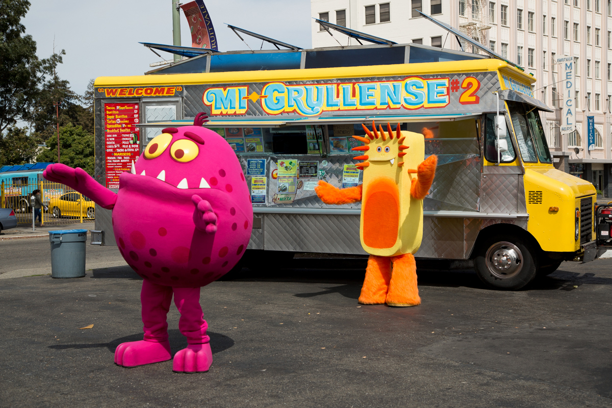 Don't let the flu germs ruin a trip to your favorite taco truck. Shoo the Flu! Pre k and elementary school students in Oakland can get the flu vaccine at school this fall. (Photo: Business Wire)