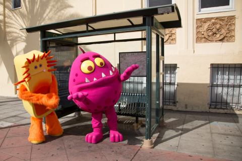 Flu germs try to get a ride on the 1. Oakland students can help protect their community from the flu by getting a flu vaccine at school. For participating schools, visit www.ShooTheFlu.org. (Photo: Business Wire)
