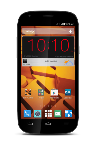 The ZTE Warp Sync lands at Boost Mobile with industry-leading value priced at $179.99. (Photo: Busin ...