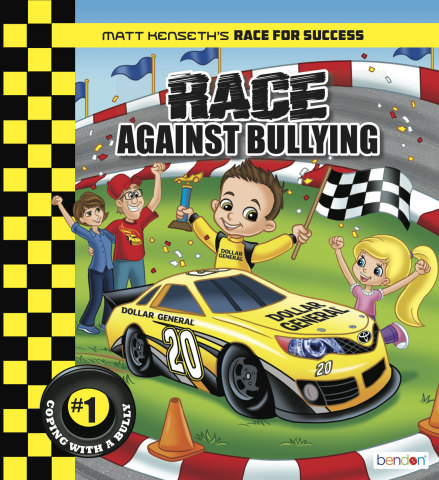 NASCAR's Matt Kenseth launches his new children's book, Matt Kenseth's Race Against Bullying, on National Youth Literacy Day to educate children on bullying. (Graphic: Business Wire)