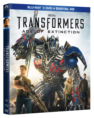Transformers: Age Of Extinction, Arrives On Blu-ray 3D™ & Blu-ray™ Combo Packs With Over Three Hours Of Explosive Special Features On September 30 and On Digital HD September 16 (Photo: Business Wire)