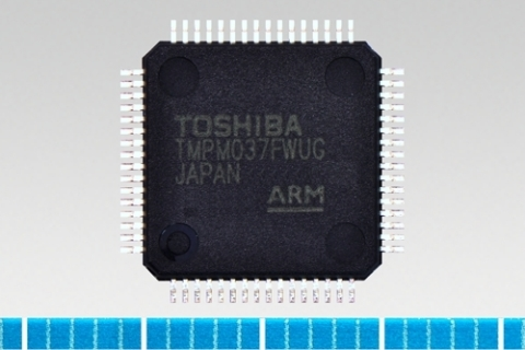 "Toshiba: Multi-function ARM(R) Cortex(R)-M0-core-based microcontroller ""TMPM037FWUG"" with low pin co ..."