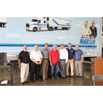 Pictured from Left to Right: Greg Steinhorst, Badger Utility, Inc., Richard Bloomquist, Badger Utility, Inc., Steve Bennett, Utility Trailer Manufacturing Company, Randy Marten, Marten Transport Ltd., Hal Bennett, Utility Trailer Manufacturing Company, Todd Scheffler, Badger Utility, Inc., Greg Brown, Utility Trailer Manufacturing Company (Photo: Business Wire)