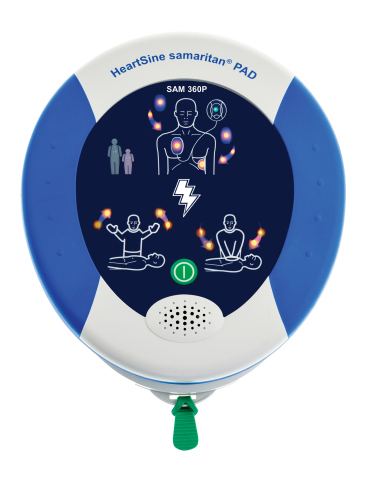 HeartSine samaritan PAD 360P Fully Automatic Public Access Defibrillator (PAD) (Photo: Business Wire ...