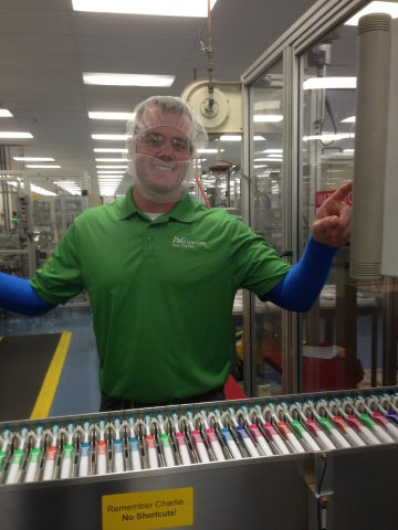 Dean Solle and team assemble more than one million toothbrushes a day at Oral-B's Iowa City plant, t