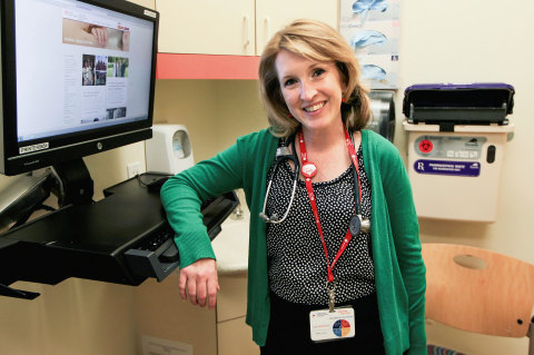 Christy Sillman, RN, nurse coordinator for the Adult Congenital Heart Program at Stanford, has a uni ...