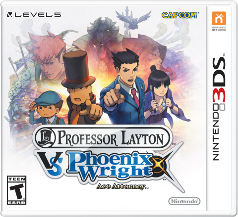 The Professor Layton vs. Phoenix Wright: Ace Attorney game launches for Nintendo 3DS on Aug. 29 and combines the puzzle-solving satisfaction of the Professor Layton series with the courtroom drama of the Phoenix Wright franchise. (Photo: Business Wire)