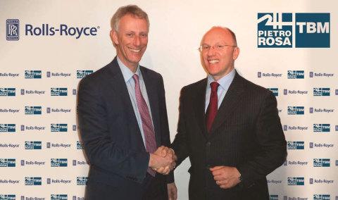 Left to right: Chris J. Cholerton, Executive Vice President Compressor Components (Rolls-Royce plc), ...