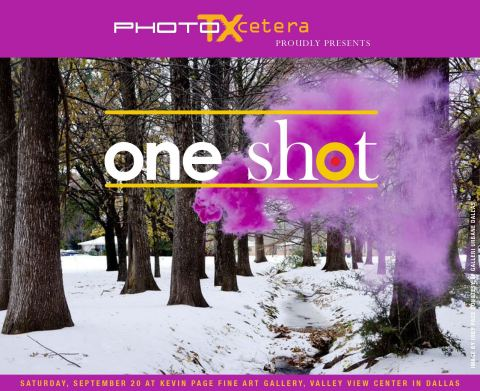 PhotoTXcetera Announces ONEshot! Show September 20, 2014, 6-9pm at Valley View Center - Local TV Star and Festival Co-founder Kevin Page to Exhibit Top Texas Photographers in Dallas, Texas (Graphic: Business Wire)