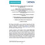 Communiqué de presse Ipsen Résultats 1er semestre 2014