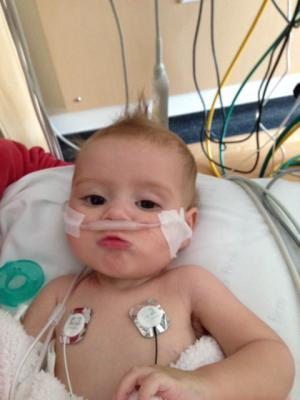 In 2013, 5-month-old Haven Forner was on ECMO for 17 days to battle pneumonia and other illnesses in the CHLA Pediatric Intensive Care Unit. (Photo: Business Wire)