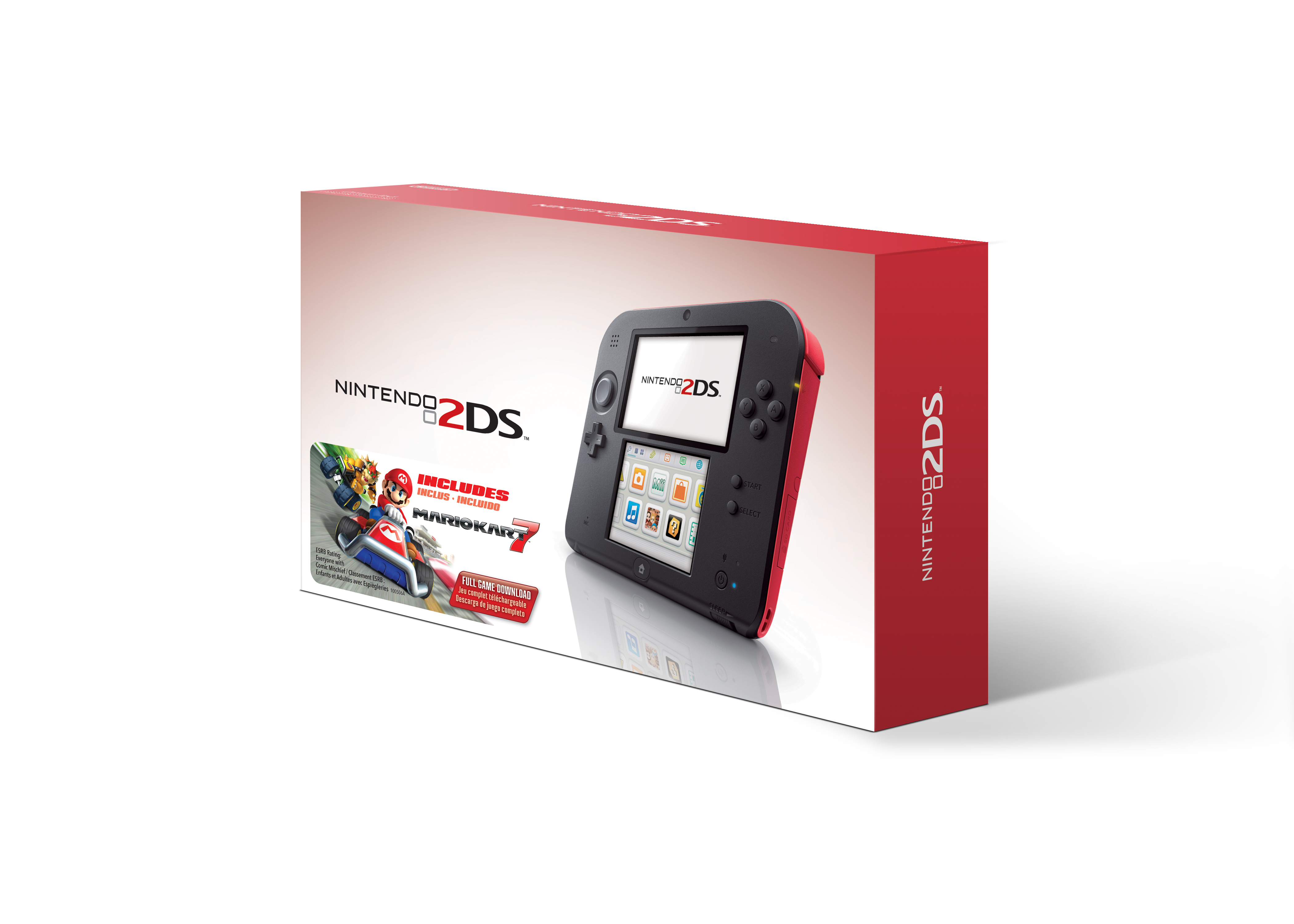 In early October, three new Nintendo 2DS bundles will hit stores. The new bundles feature the Electric Blue, Crimson Red or Sea Green Nintendo 2DS system along with a code to download Mario Kart 7 from the Nintendo eShop. The bundles will be available at a suggested retail price of $129.99 each. (Photo: Business Wire)