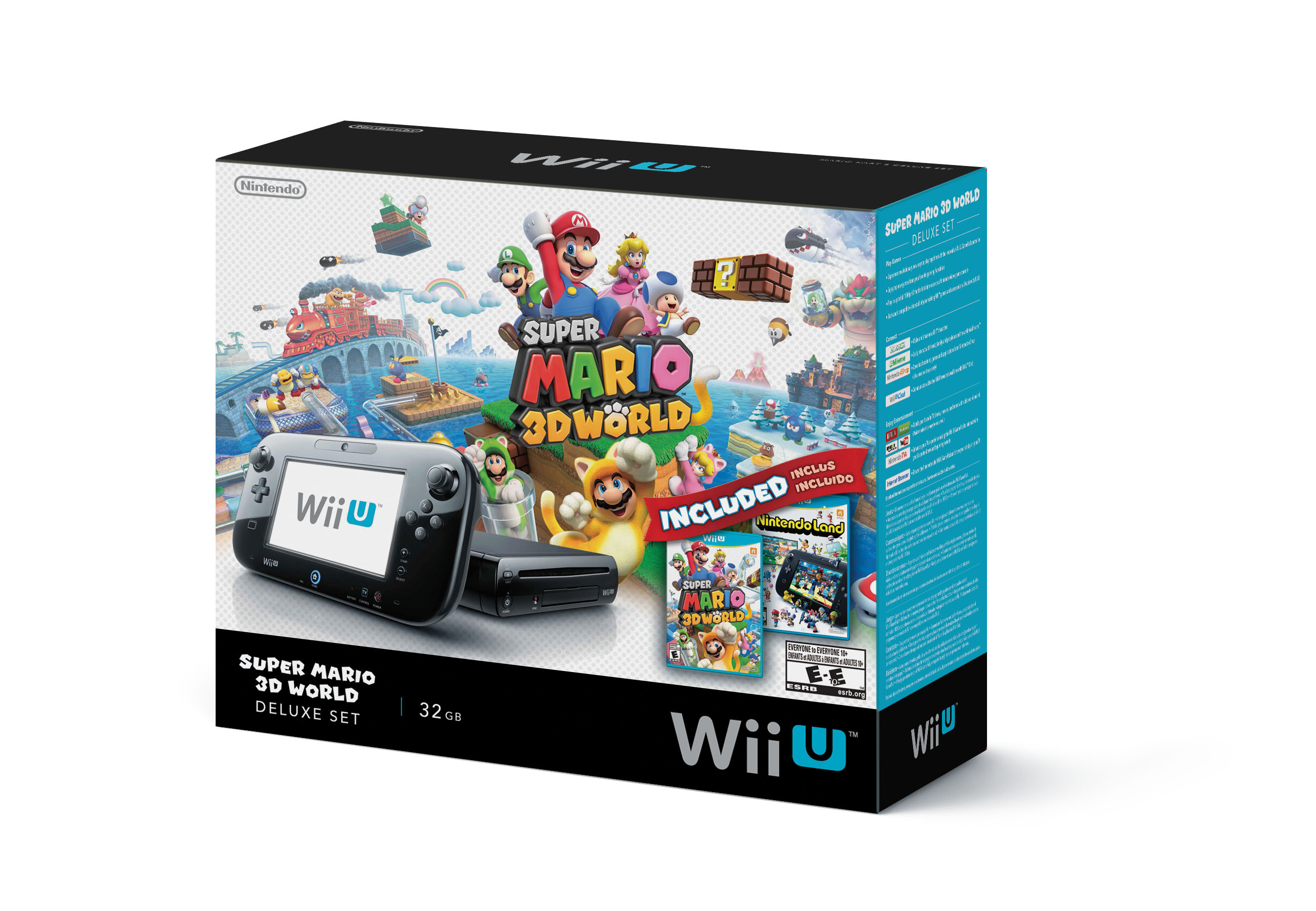 Starting mid-September, the new Wii U Deluxe Set will include the Wii U console and physical Super Mario 3D World and Nintendo Land games at a suggested retail price of $299.99. (Photo: Business Wire)