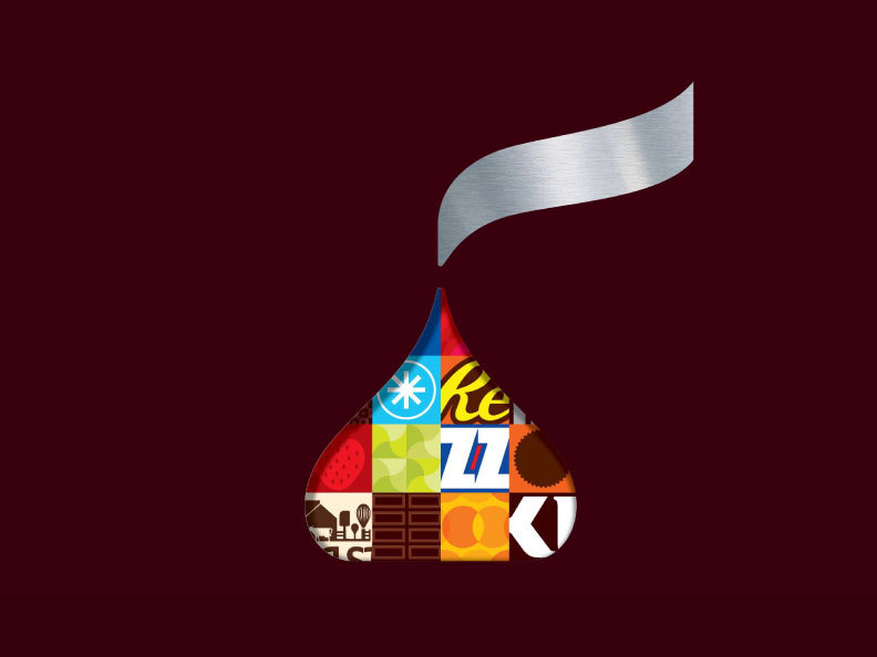 The KISSES icon offers flexibility to highlight visual imagery across the Hershey product portfolio. (Photo: Business Wire)