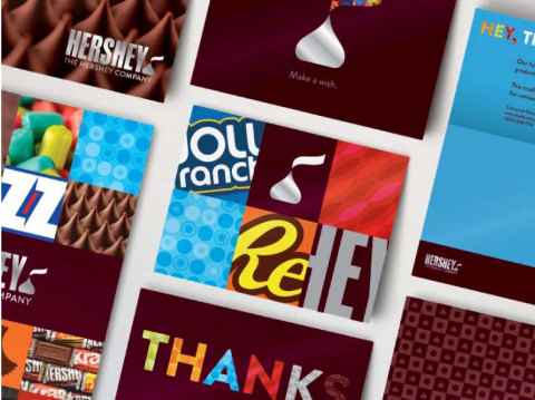 The new visual identify system highlights the vibrant colors of Hershey's iconic brands and products while offering numerous ways to communicate both internally and externally. (Photo: Business Wire)