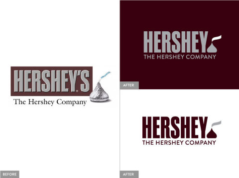 The updated logo is built around the globally recognizable Hershey logotype and the beloved KISSES icon, which is both simplified and activated as a symbol that represents the company's promise of 'Bringing Goodness to the World'. Dropping 'S, found on the consumer-branded products, underscores that The Hershey Company is about more than HERSHEY'S chocolate. For more than 120 years, The Hershey Company has been one of the most recognized chocolate and confection companies in the world. The new logo and identity system stays true to the rich Hershey legacy, while embracing the diverse global company it has become. (Photo: Business Wire)